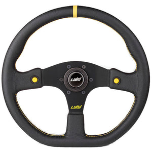 Luisi Stealth Corsa Hp Steering Wheel Black Leather Black Spokes 355mm