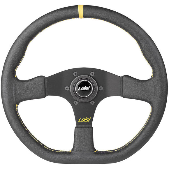 Luisi Stealth Corsa Steering Wheel Black Leather Black Spokes 355mm