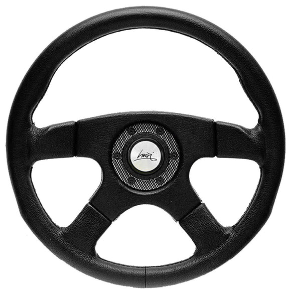 Luisi Vincent Steering Wheel Black Polyurethane With Carbon Look O-Ring 365mm