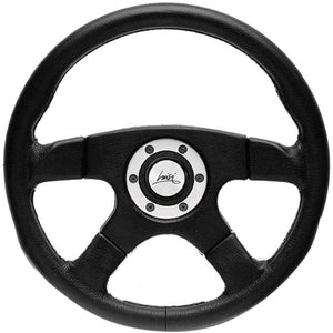 Luisi Vincent Steering Wheel Black Polyurethane With Silver Painting O-Ring 365mm