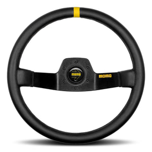 MOMO Mod. 02 Two Spoke Steering Wheel Black Leather Black Spokes 350mm