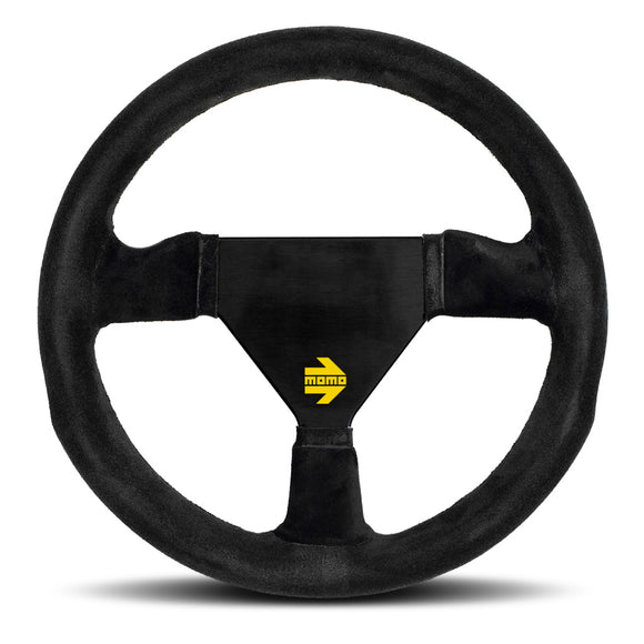 MOMO Mod. 11 Steering Wheel Black Suede Black Spokes 260mm
