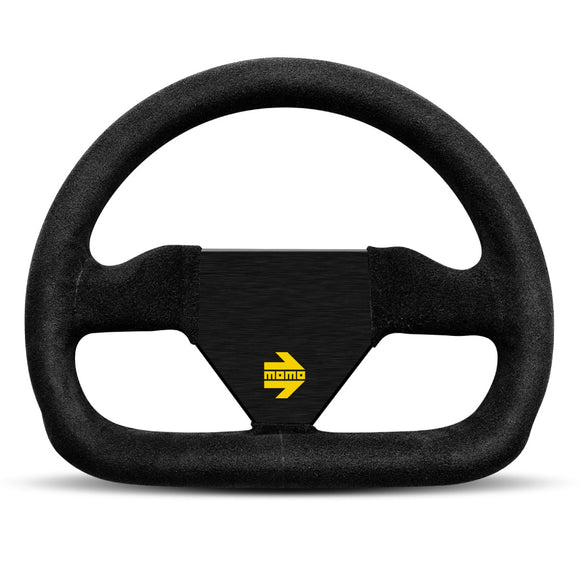 MOMO Mod. 12 Steering Wheel Black Suede Black Spokes 250mm