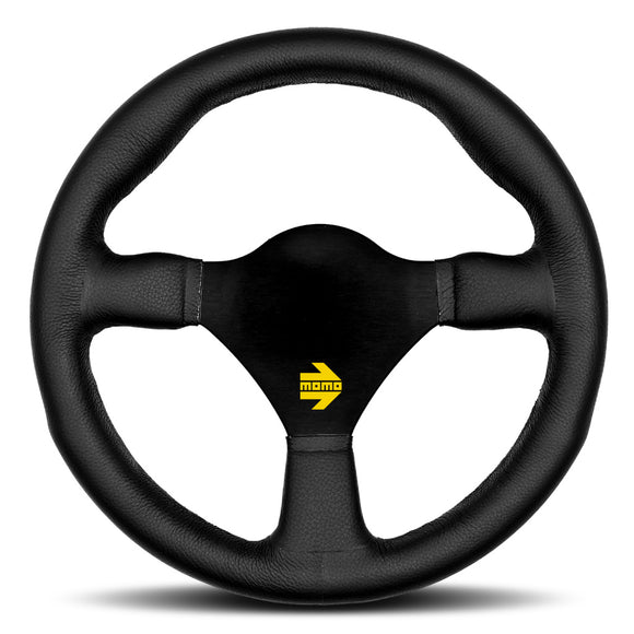 MOMO Mod. 26 Steering Wheel Black Leather Black Spokes 260mm