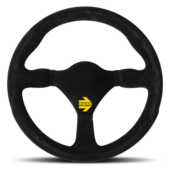 MOMO Mod. 26 Steering Wheel Black Suede Black Spokes 290mm