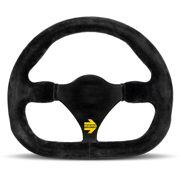 MOMO Mod. 27 Steering Wheel - Black Suede Black Spokes 290mm
