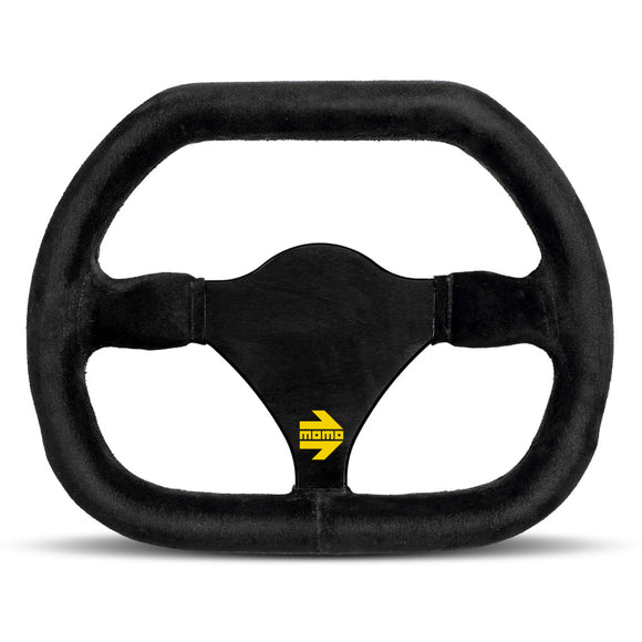 MOMO Mod. 29 Steering Wheel Black Suede Black Spokes 270mm
