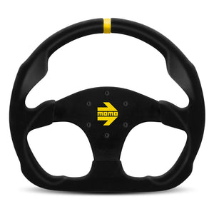 MOMO Mod. 30 Steering Wheel Black Suede Black Spokes 320mm