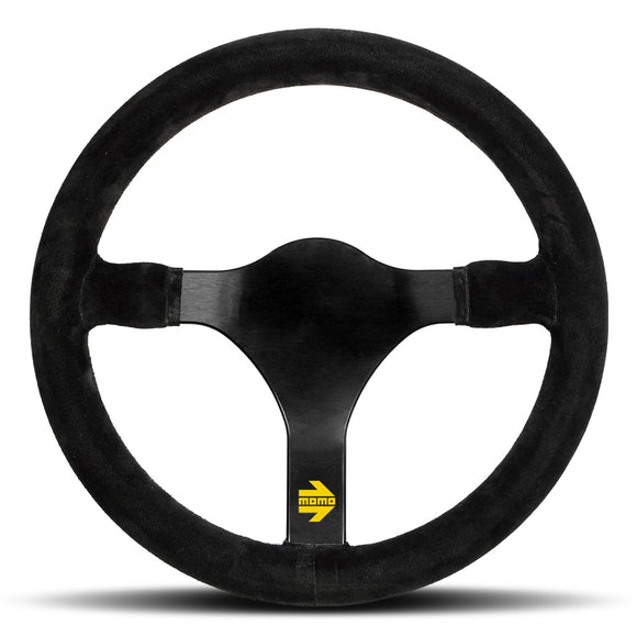 MOMO Mod. 31 Steering Wheel Black Suede Black Spokes 320mm