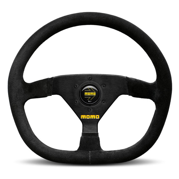 MOMO Mod. 88 Steering Wheel Black Suede Black Spokes 320mm