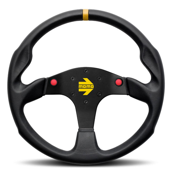 MOMO Mod. 80 EVO Steering Wheel Black Leather Black Spokes 350mm