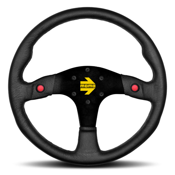 MOMO Mod. 80 Steering Wheel Black Leather Black Spokes 350mm
