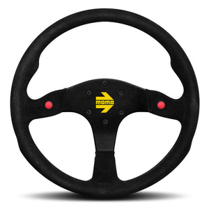 MOMO Mod. 80 Steering Wheel Black Suede Black Spokes 350mm