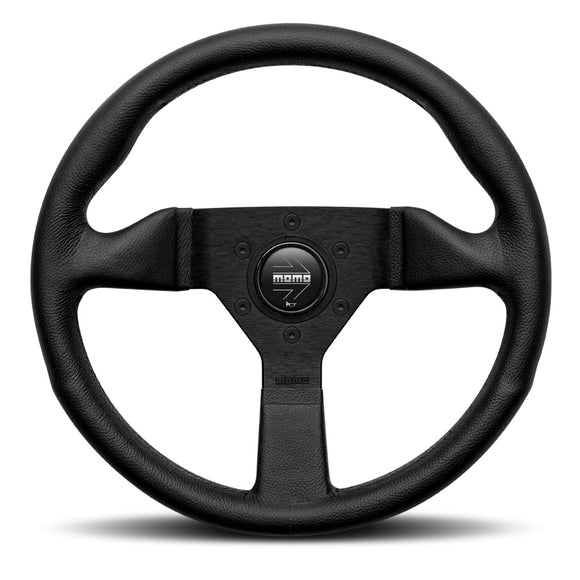 MOMO Montecarlo Steering Wheel Black Leather Black Spokes 320mm