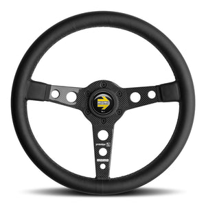 MOMO Prototipo 6C Steering Wheel Black Leather Carbon Spokes 350mm
