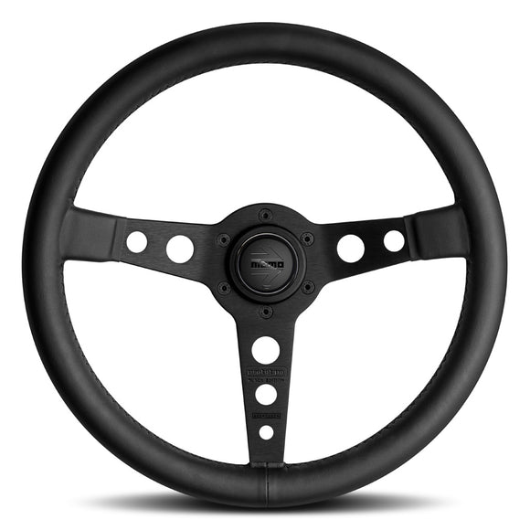 MOMO Prototipo Black Edition Steering Wheel Black Leather Black Spokes 350mm