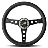 MOMO Prototipo Heritage Steering Wheel Black Leather Black Spokes 350mm