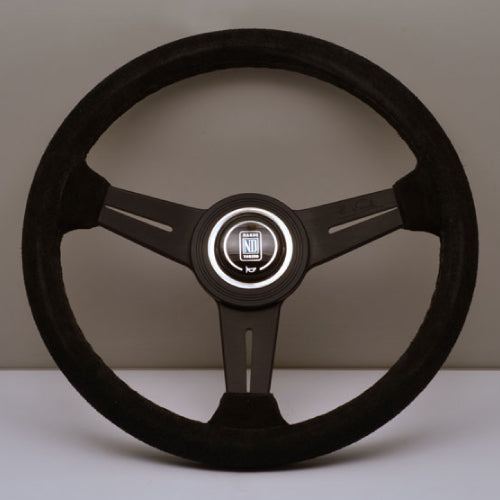 Nardi ND Classic Steering Wheel - Black Suede Black Spokes 330mm