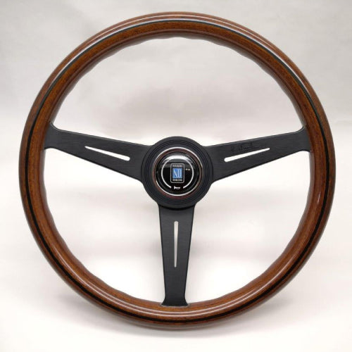 Nardi ND Classic Steering Wheel - Wood Black Spokes 360mm