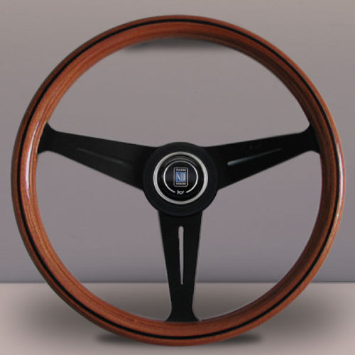 Nardi ND Classic Steering Wheel - Wood Black Spokes 390mm