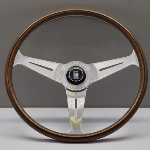 Nardi ND Classic Steering Wheel - Wood Glossy Spokes 390mm