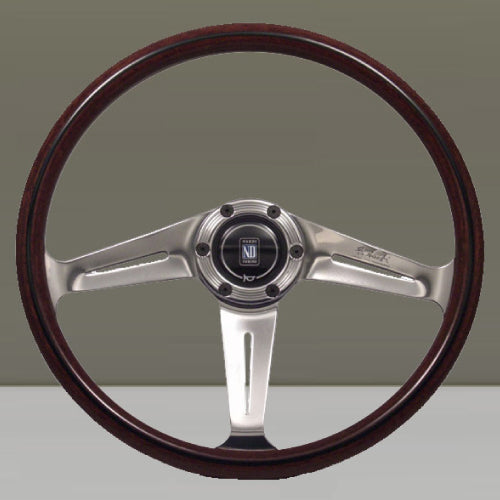 Nardi ND Classic Steering Wheel - Wood Polished Downward Spokes 367mm