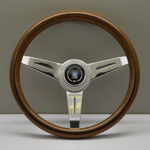 Nardi ND Classic Steering Wheel - Wood Polished Spokes 340mm