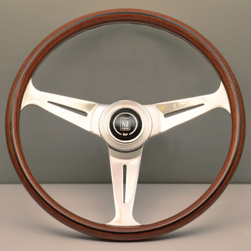 Nardi ND Classic Steering Wheel - Wood Polished Spokes 390mm