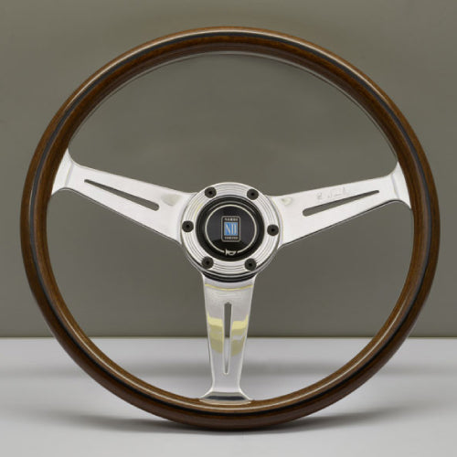Nardi ND Classic Steering Wheel - Wood Polished Spokes Visible Screws 360mm