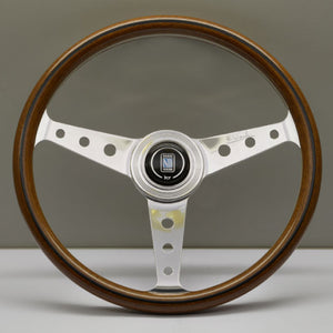 Nardi ND Classic Steering Wheel - Wood Polished Spokes with Holes 360mm