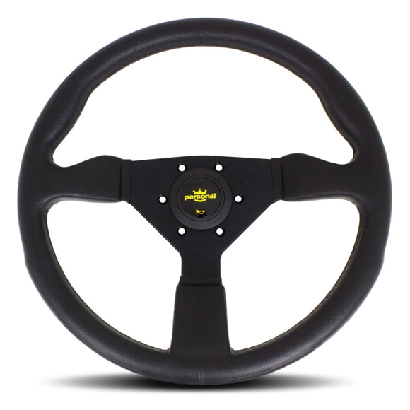 Personal Grinta Steering Wheel - Black Polyurethane Black Spokes 350mm