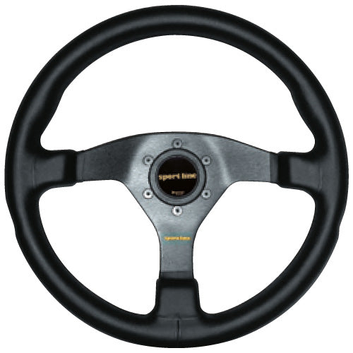 Sport Line Comfort Steering Wheel Black Vinyl Black Spokes 350mm
