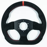 Sport Line Competition Steering Wheel Black Suede Black Spokes 300mm