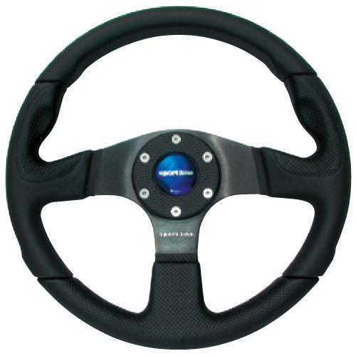 Sport Line Evolution Steering Wheel Black Leather Black Spokes 330mm