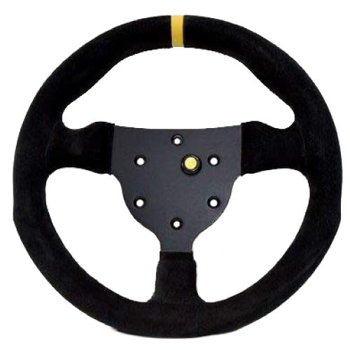 Sport Line Formula Steering Wheel Black Suede Black Spokes 270mm