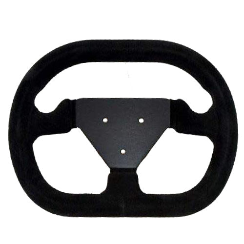 Sport Line Formula Steering Wheel Black Suede Black Spokes 280mm