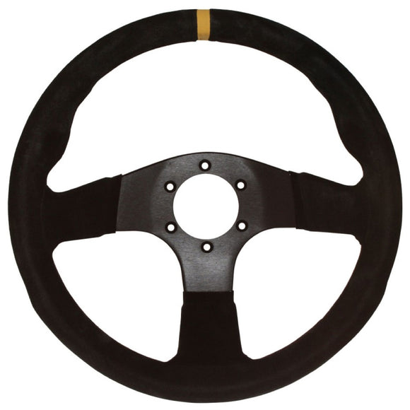 Sport Line Imola Steering Wheel Black Suede Black Spokes 330mm