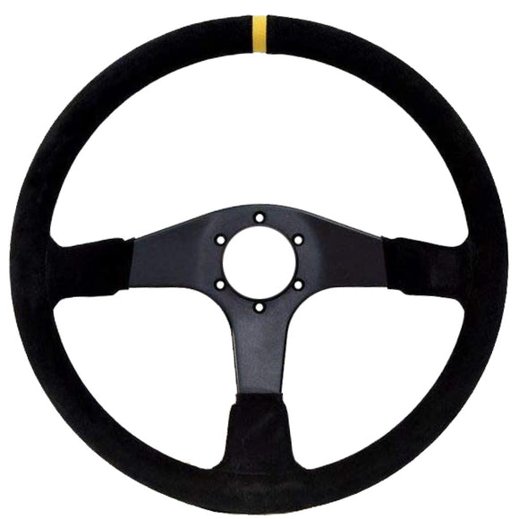 Sport Line Imola Steering Wheel Black Suede Black Spokes 380mm