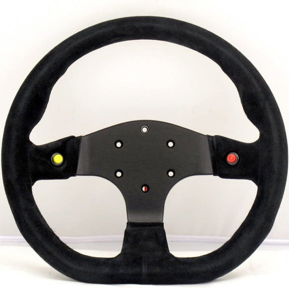 Sport Line Runner 2000 Steering Wheel - Black Suede Black Spokes 330mm