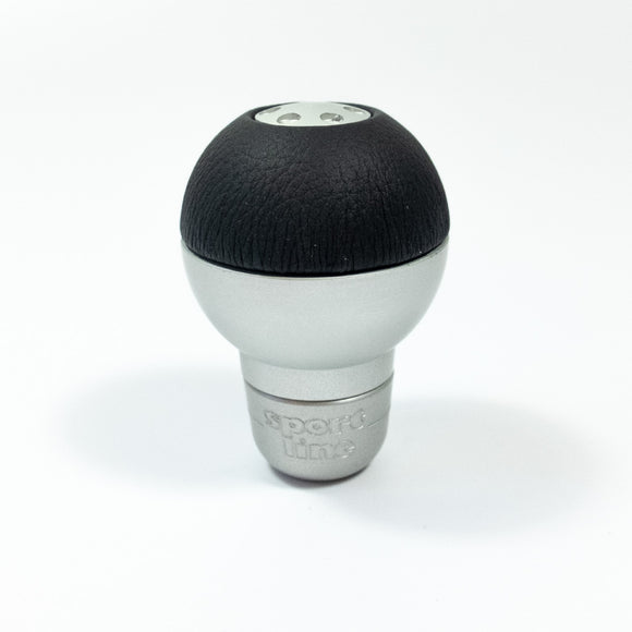 Sport Line Sprint Gear Knob Silver Aluminium Black Leather