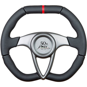 Luisi 50th Anniversary Steering Wheel Black Leather With Grey Centre Cover 350mm