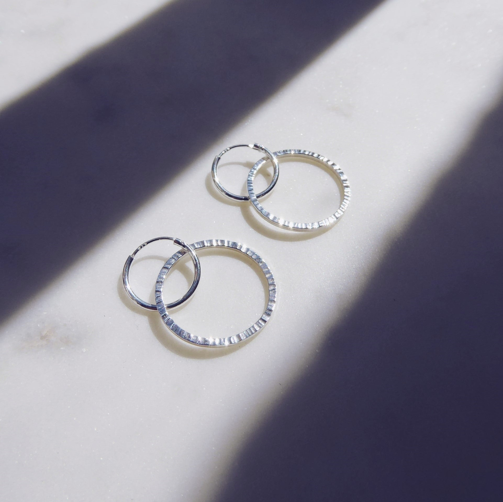 Ridge Hoop Earrings