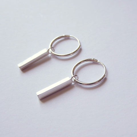Half Bar Hoop Earrings