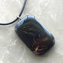 Load image into Gallery viewer, X-Section Pendant - Hemlock Cones & Black Resin #16