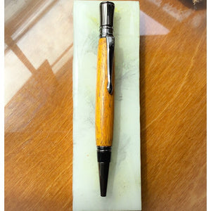 Pen - Executive Twist Gunmetal Ballpoint with Orange Osage Wood