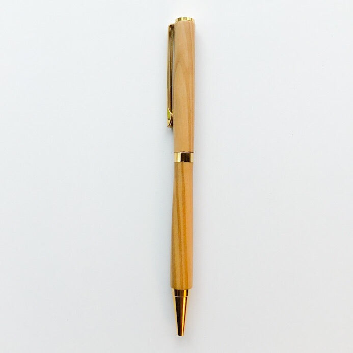 Pen - Slim Cobalt Gold Twist with Olive Wood