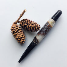 Load image into Gallery viewer, Pen - Wall Street II Ballpoint - Black Chrome with Pine Cones