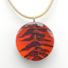 Load image into Gallery viewer, X-Section Pendant Red Circle
