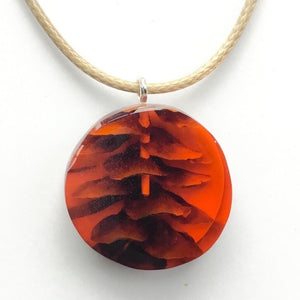 X-Section Pendant Red Circle