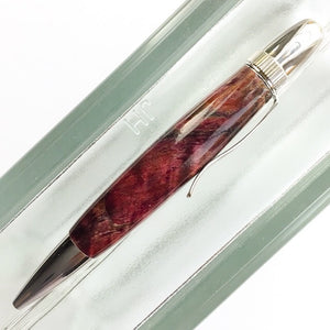 Pen - Atlas Twist Ballpoint - Dark Red Lace Maple